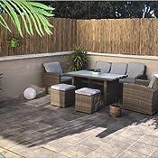Sol Royal Valla de bambú Protectora SolVision B38 90 x 250 cm (A x L) Estera de privacidad Visual y Viento Natural Balcones terrazas Jardines barandas ...