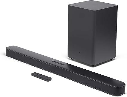 -JBL Bar 2.1 Deep Bass Sound Bar, in-home entertainment systeem met streaming mogelijkheden en subwoofer, in zwart-aanbieding
