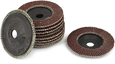 uxcell 4-inch x 5/8-inch Sanding Flap Disc Grinding Wheel 320 Grit 10 Pcs
