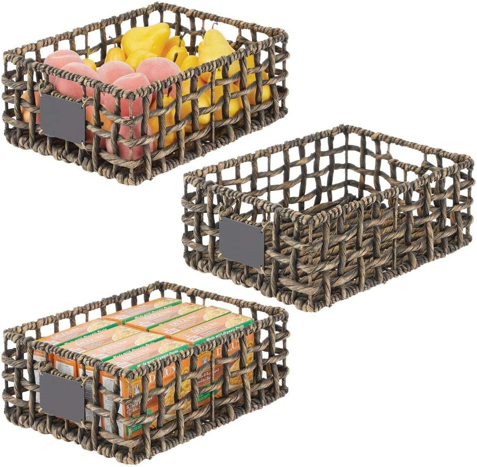 All items in the store mDesign Water Hyacinth Open Weave Pantry Deluxe Kitchen Cabinet Basket