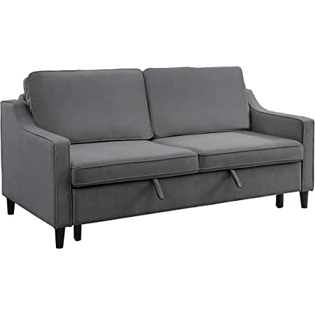 Us Pride Furniture Knightsville Velvet 70 Square Arms Sofa Bed Sofabed Black Furniture Decor