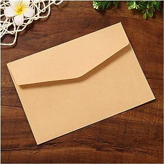 (10 Pieces/lot) 12 * 17cm Black White Kraft Solid Color Blank Envelope Greeting Card Postcard Envelopes (Color : Kraft)