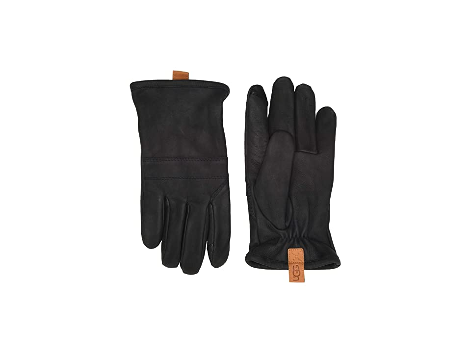 UGG Leather Gloves (Distressed Black) Extreme Cold Weather Gloves