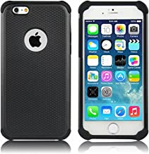 iPhone 6 Case,iPhone 6S Case,GOGING Impact Resistant Double Layer Shockproof Hard Shell Case Compatible for Apple iPhone 6/6S 4.7 inch (Black)