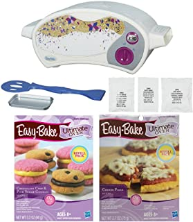 Easy-Bake Ultimate Oven Baking Star Edition (with Cheese Pizza Refill Pack and Chocolate Chip and Pink Sugar Cookies Refill Pack)