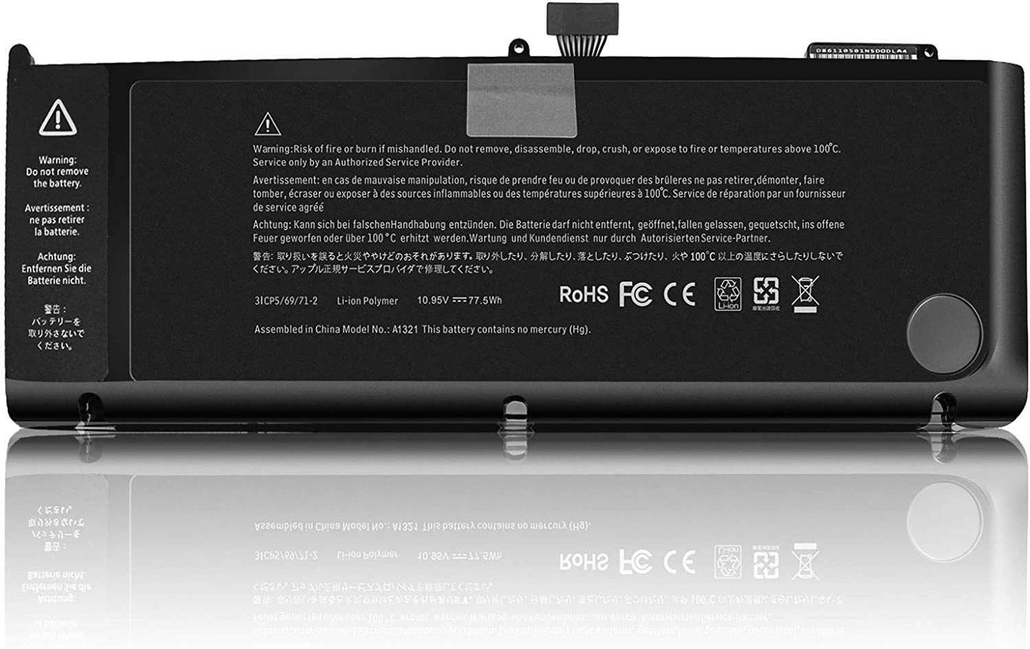 FLYTEN shipfree A1321 Max 71% OFF A1286 Laptop Battery Compatible for 15 MacBook Pro