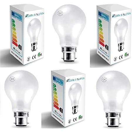 5 x 40W Incandescent Ripple Candle Light Globes Bulbs Lamps Bayonet B22 BC Pearl