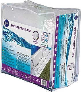 Gre MPROV610 - Manta Protectora Piscina Elevada de 530 x 280 cm, 610 x 375 cm o 500 x 340 cm, Color Blanco