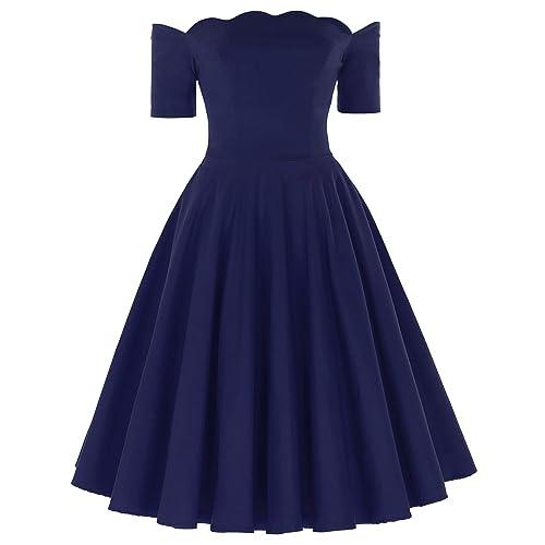 a0a2b9e2e790 PAUL JONES Belle Poque Women s Off Shoulder Swing Dress Party Picnic Dress
