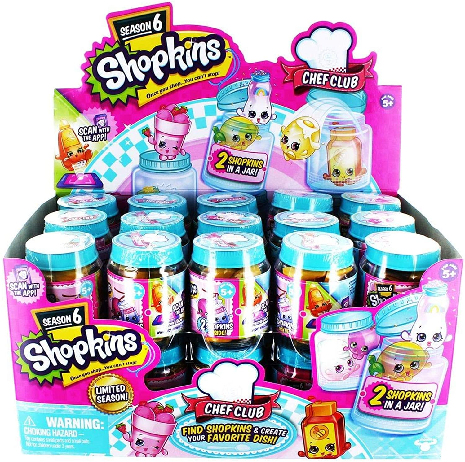 Shopkins Season 6 Chef Club 2 Pack Sealed Case of 30