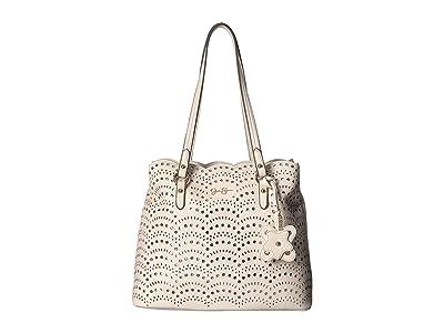 Jessica Simpson Reine Perf Tote (Gardenia) Tote Handbags