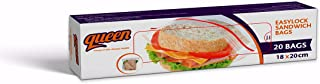 Queen Easy Lock Sandwich Bags, Small Size - 20 Bags