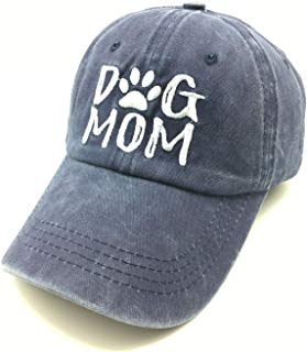 Waldeal Embroidered Women Dog Mom Denim Dad Hats Dogs Paw Adjustable Jeans Baseball Cap for Wifey