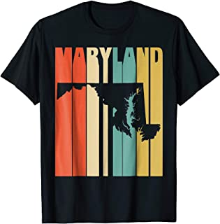 Vintage Retro I Love My Home Maryland Funny T-shirt Gifts
