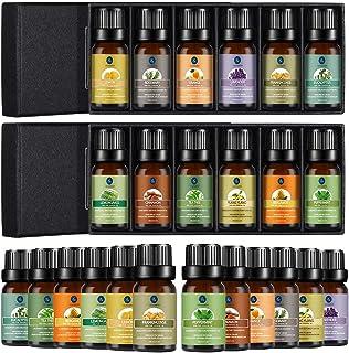 Lagunamoon Essential Oils Set, Aromatherapy Oils Set Includes Lavender, Tea Tree, Peppermint, Lemongrass, Orange, Rosemary...