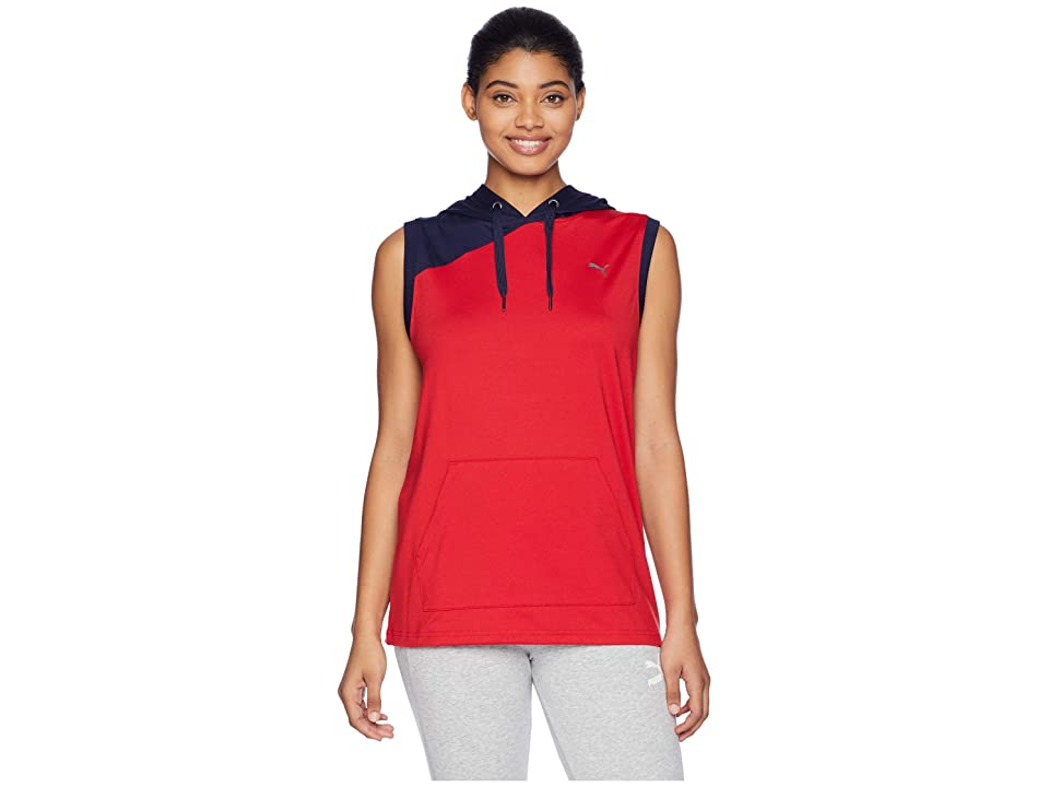 PUMA A.C.E. Sleeveless Hoodie (Ribbon Red Peacoat) Women