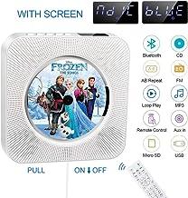 Lecteur de CD Portable, Lecteur de CD Bluetooth, Haut-Parleur HiFi intégré, Musique MP3..