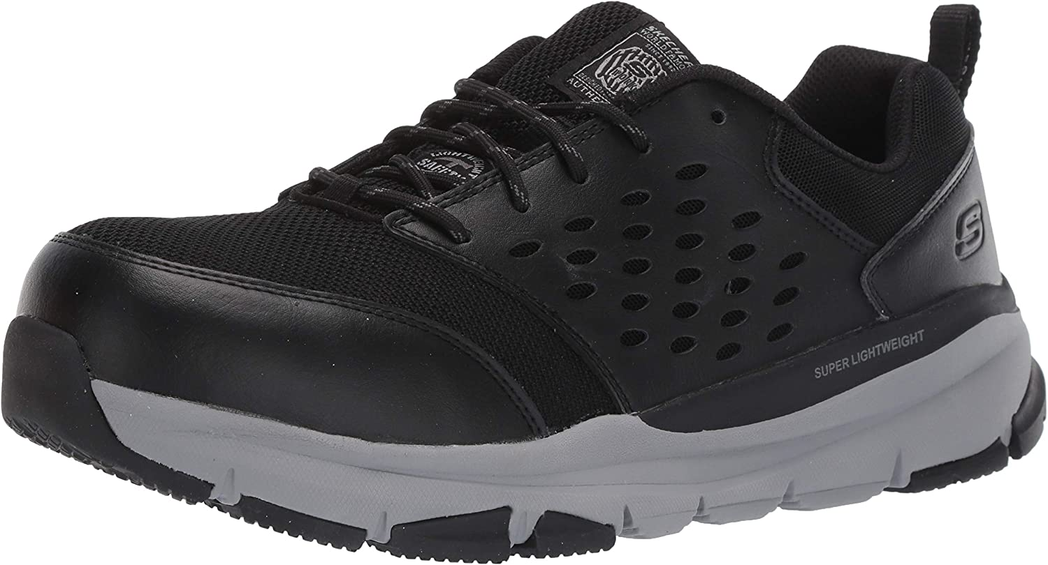 Skechers Work Soven SR-77506 Men's Oxford Oxford Oxford 8 2E US schwarz-grau 1c3