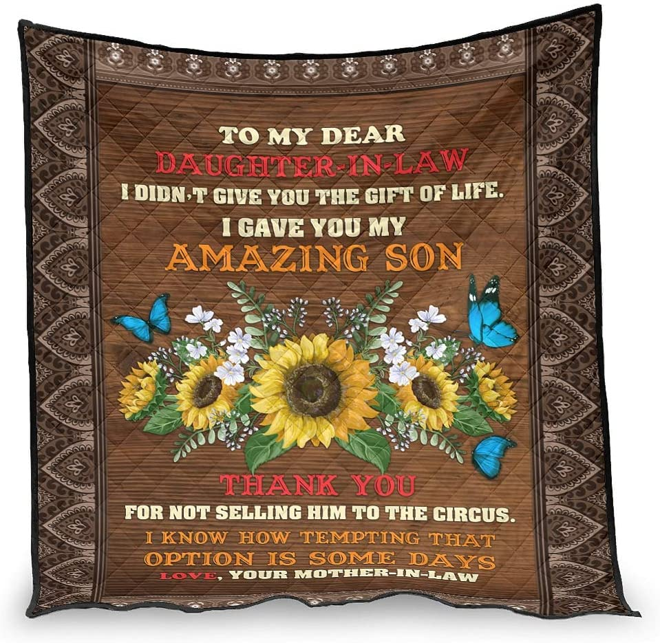 Hiperfay Dear Daughter-in-Law Warm Throw Blanket In stock for Bed K 67% OFF of fixed price Couch
