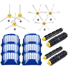 EEEKit Replacement Accessories Kit for iRobot Roomba 600 Series 690 680 660 655 650 & 500 Series 595 585 564 552 2 Bristle+Flexible Beater Brush 6 Filter 3 3-arm Side Brush 3 6-arm Side Brush