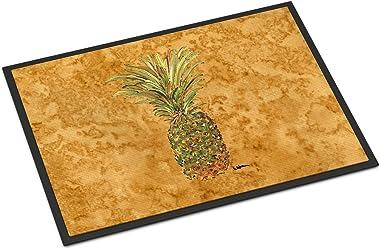 """Caroline's Treasures 8654JMAT Pineapple Indoor or Outdoor Doormat, 24"""" x 36"""", Multicolor"""