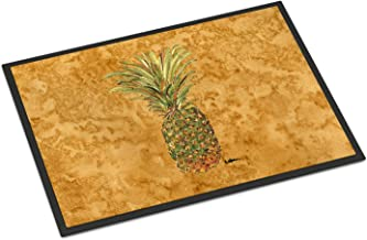 "Caroline's Treasures 8654JMAT Pineapple Indoor or Outdoor Doormat, 24"" x 36"", Multicolor"