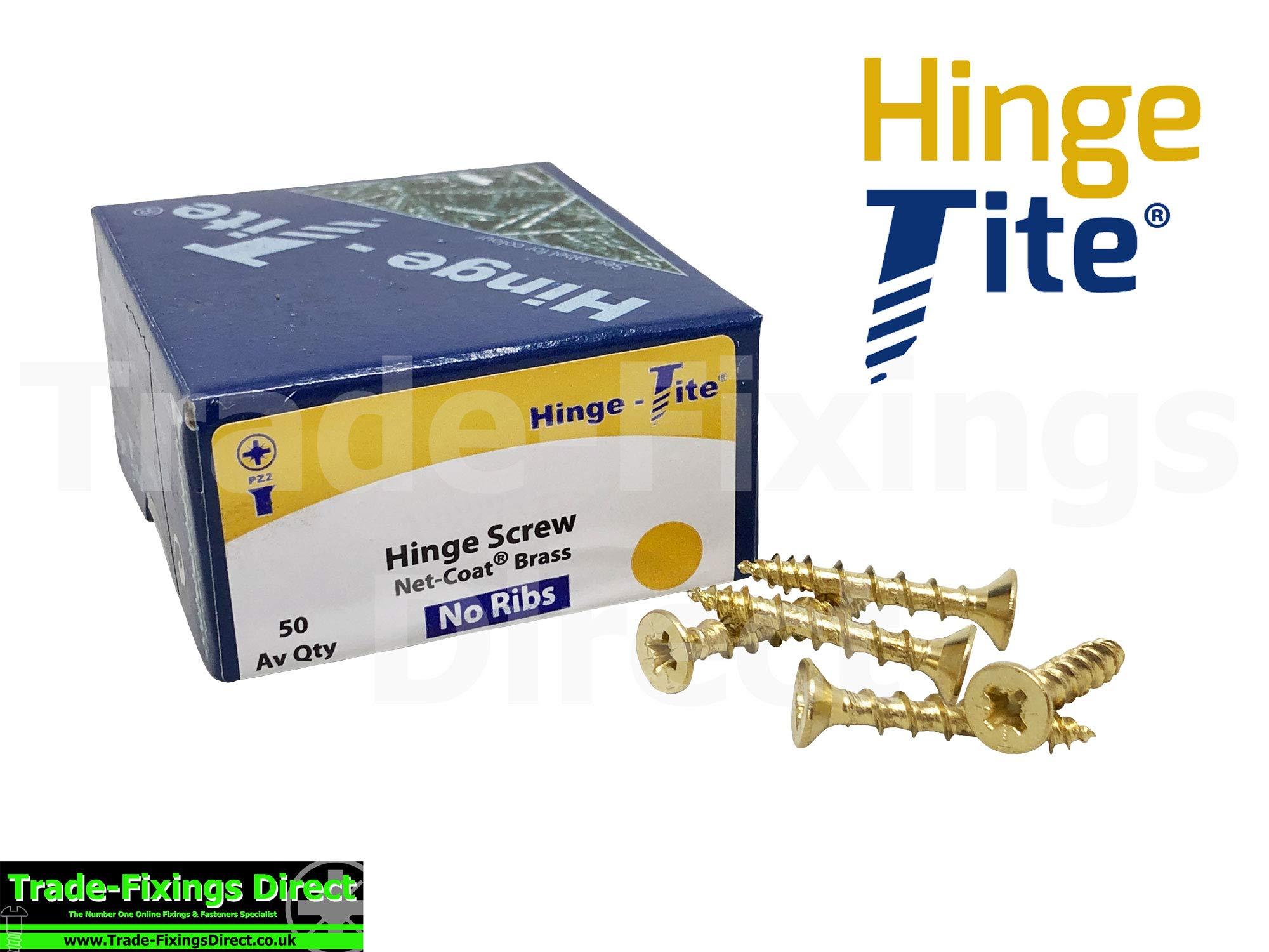 Caja de 50 tornillos de bisagra chapados en latón de 4,5 x 40 mm genuino con bisagra de latón avellanado TFHTB4540: Amazon.es: Bricolaje y herramientas