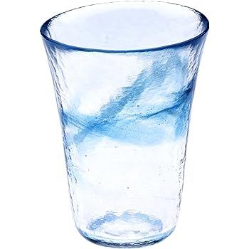 月夜野工房 我が家の一杯 焼酎グラス L 青 T1-0239-B