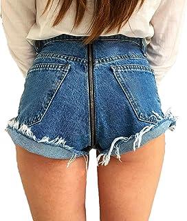 Mujer Cremallera Trasera Transpirable Largos De Vaqueros, Elástico Pantalones Mezclilla con Cremallera Trasera Pantalones Vaqueros Sexy Casual