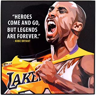 Pop Art Famous Basketball Player Inspiration Quotes [ Kobe Bryant ] Framed Acrylic Canvas Poster Prints Artwork Modern Wall Decor, 10