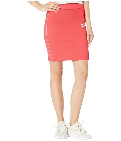 PUMA Classics Rib Skirt (Pink Alert) Women