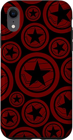 iPhone XR Marvel Falcon & Winter Soldier Winter Solider Red Shields Case