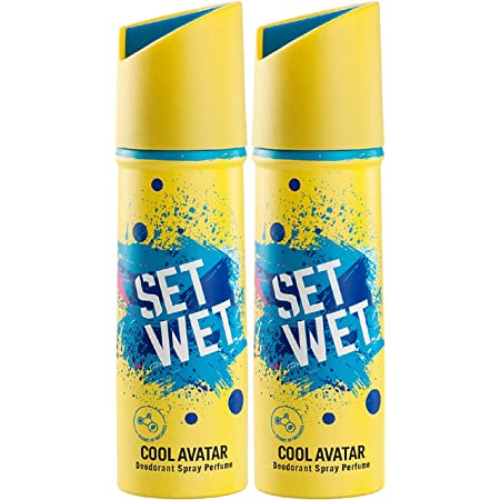 Set Wet Cool Avatar Deodorant & Body Spray Perfume For Men, 150 ml (Pack of 2)