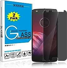 DONWELL Moto Z2 Play New 2017 Privacy Anti Spy Anti-Glare Ballistic Tempered Glass Screen Protector for Motorola Moto Z2 Play 5.5