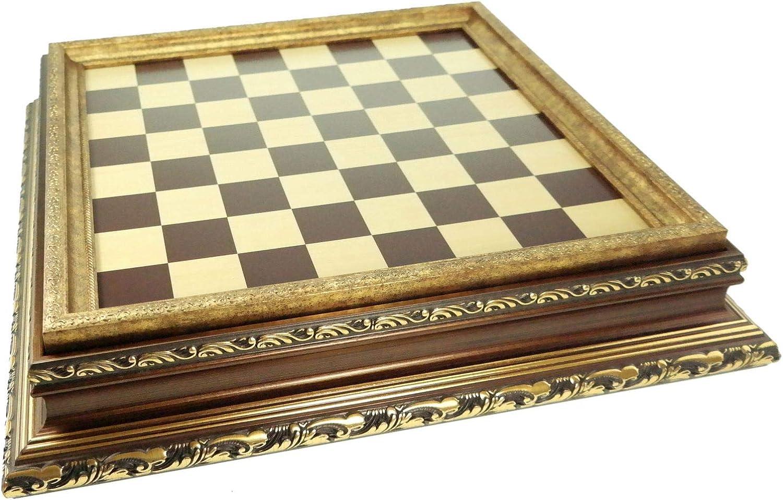 Joh. Vogler GmbH Hochwertiges Schachbrett Mittelalter mit viel Stauraum Schach 44 x 44 x 10 cm mit Box