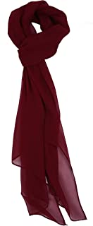 Love Lakeside Modern, Chiffon Silk Blend Solid Color Oblong Scarf