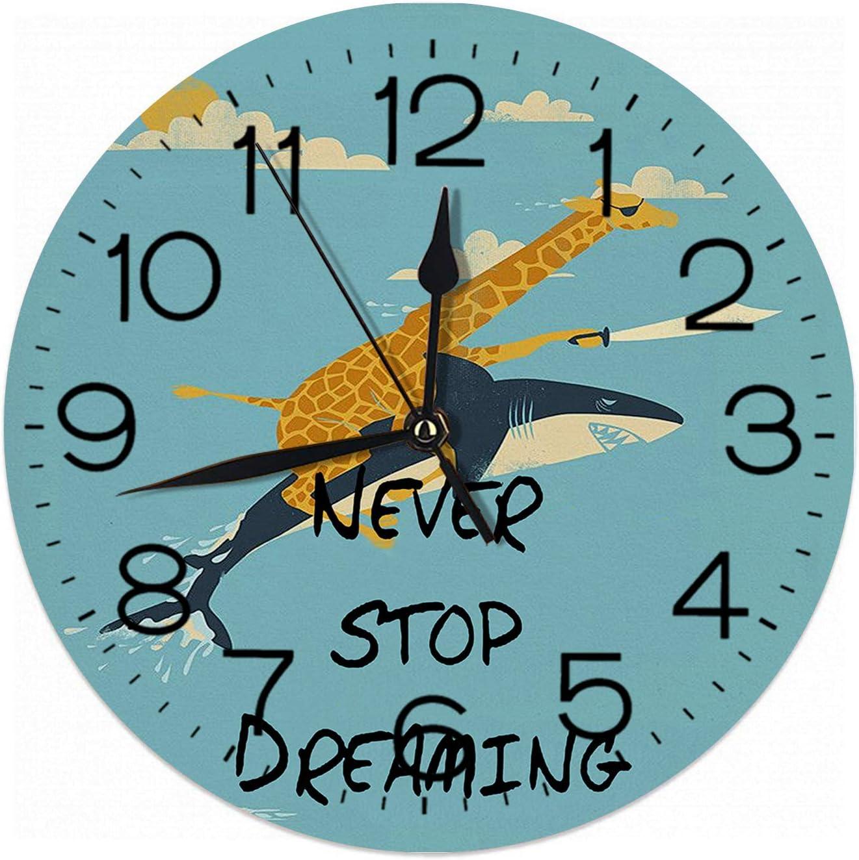 Regular store Nicokee [Alternative dealer] Never Stop Dreaming Deer and Clock Shark Wall Pirates Si