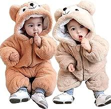 【 可愛さバツグン 】monoii 赤ちゃん 着ぐるみ くま ロンパース あったか ベビー 服 ハロウィン 衣装 クマ カバーオール 足つき くまさん 仮装 コスプレ d456
