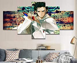 HNBDH Impresiones sobre Lienzo 5 Piezas Steins Gate Rintarou Okabe Anime Decor Painting Pictures Modern Home Living Room Wall Art Poster (Tamaño 3) Sin Marco