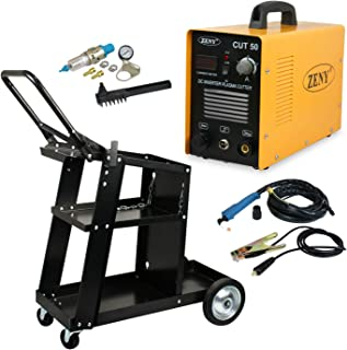 ZENY DC Inverter Plasma Cutter 50AMP CUT-50 Dual Voltage 110-220V Cutting Machine With Welding Cart