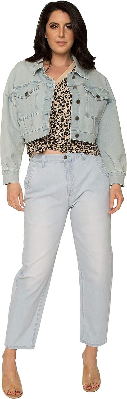 Standards & Practices Women's Easy Fit Denim Cropped Trucker Jacket