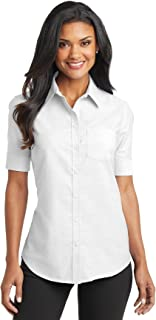 L659 Women's Short Sleeve SuperPro Oxford Shirt