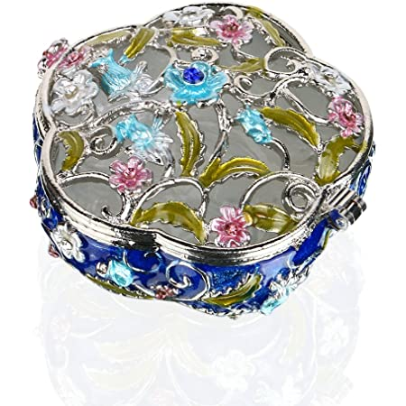 Royal Commemoration Wedgwood Silver Jubilee Trinket Box Hand Painted Silver Floral Trinket Box Jewelry Box