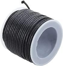 SODIAL(R) 10 mt laccio laccetto cordino cerato nero 2mm in cotone
