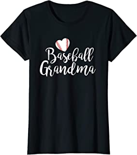 Womens Baseball Grandma T Shirt Mother's Day Gifts Women