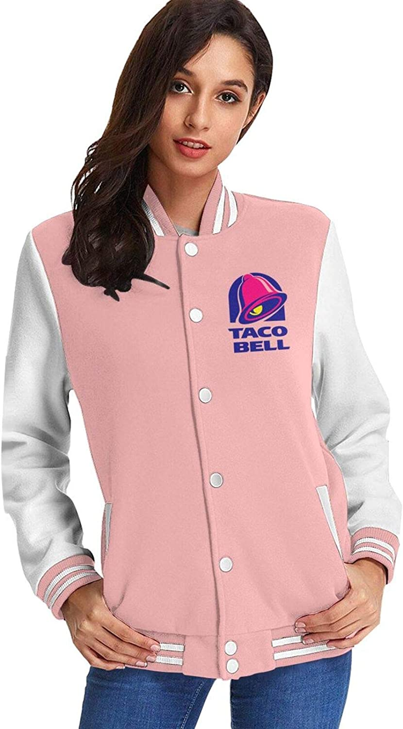 Majestic Bell with Taco Womans Baseball Uniform Jacket Unisex Casual Long Sleeve Sweater