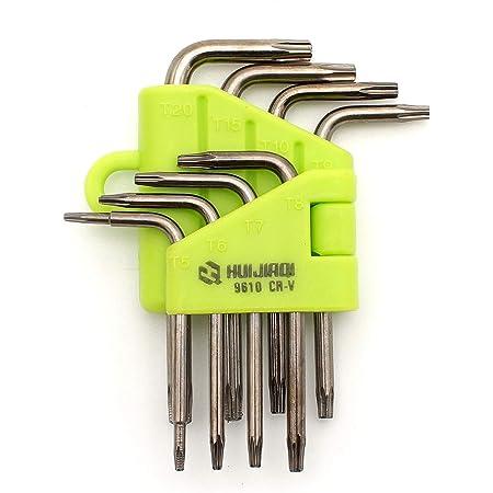 Kraftwerk Tool 3608 9 pieces T10-T50 TX-Angle Pin Wrench Set