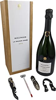 Bollinger Grand Annee Vintage Champagne 2012 in a wooden box with four wine accessories, 1 x 750ml