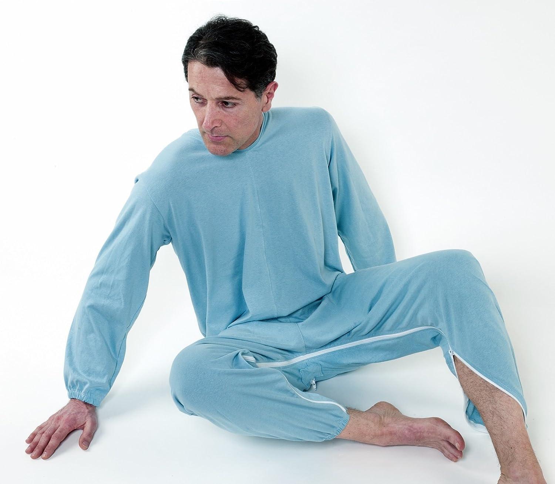 Pijama mono antipañal sanitario con doble apertura – trasero y interior de caballo S