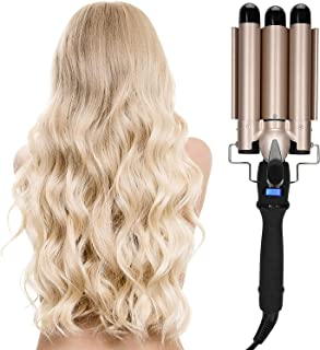 Hair Curling Iron 3 Barrel Wand Temperature Adjustable Hair Waver Curling Iron for Long or Short Hair Heat Up Quickly Last...